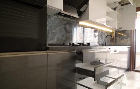 High Gloss İnox Mutfak Dolabı Ankara