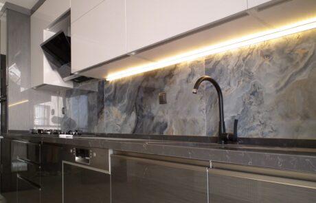 High Gloss Kulpsuz Mutfak Dolabı Ankara