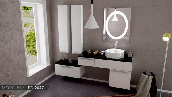 Çift Lavabolu Banyo Dolabı Modeli